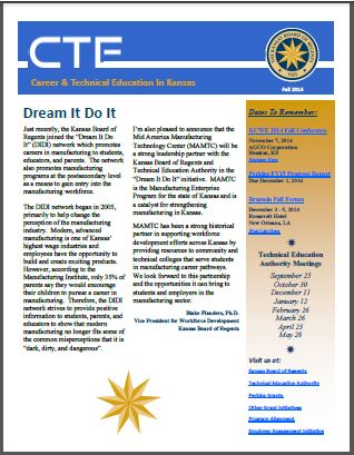 CTE newsletter promotion