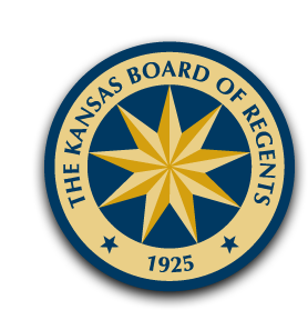 Kansas Board of Regents logo, link to homepage of KansasRegents.org